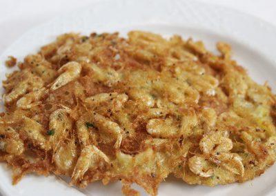 Tortillita de camarones Barbiana