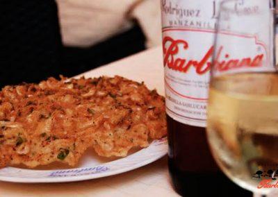 Tortillita de camarones y manzanilla Barbiana